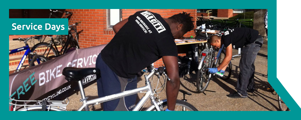 Service Days - Velo City Cycling - London - Mobile Bike Servicing and Repairs
